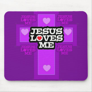 Jesus Loves Me. Mouse Pads