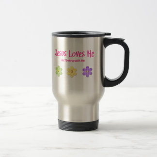 Jesus Loves Me 15 Oz Stainless Steel Travel Mug
