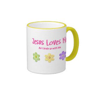 Jesus Loves Me Ringer Coffee Mug