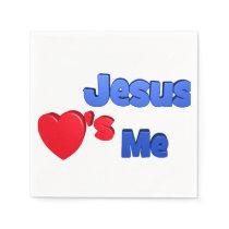 Jesus loves me paper napkin
