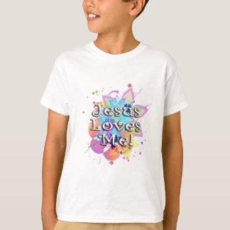 Jesus Loves Me, Pastel Watercolor T-Shirt