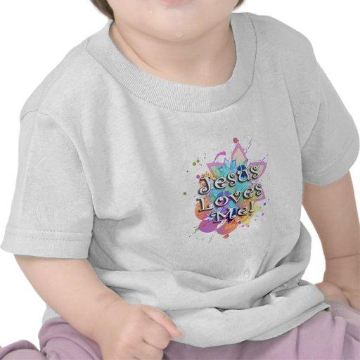 Jesus Loves Me, Pastel Watercolor T-shirts