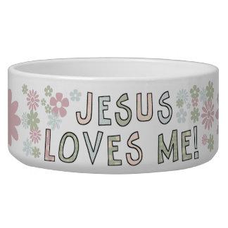 Jesus Loves Me Pet Dish