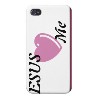 JESUS Loves Me - Pink iPhone 4/4S Cases