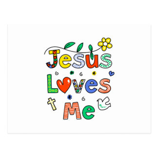 Jesus Loves Me Postcard