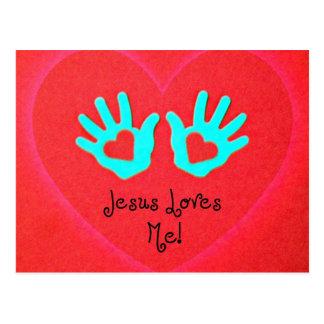 Jesus loves me! postcard