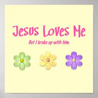 Jesus Loves Me Poster