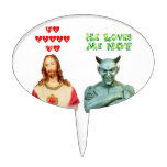 Jesus Loves Me... satan loves me not... Cake Pick