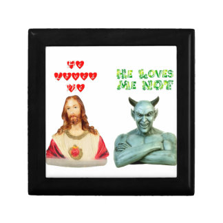 Jesus Loves Me satan loves me not Jewelry Box