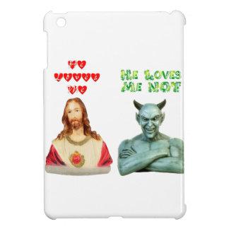 Jesus Loves Me satan loves me not iPad Mini Cover