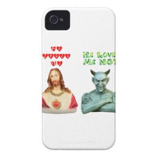 Jesus Loves Me... satan loves me not... iPhone 4 Case-Mate Case