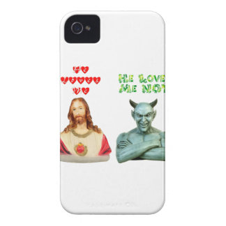 Jesus Loves Me... satan loves me not... iPhone 4 Cover