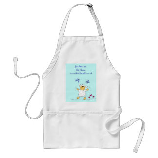 jesus loves me, sheep, apron adults