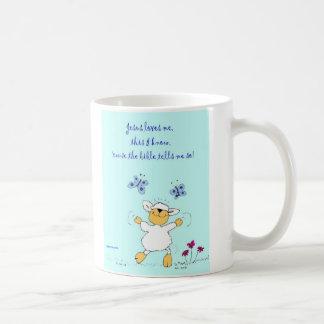 jesus loves me, sheep, mug