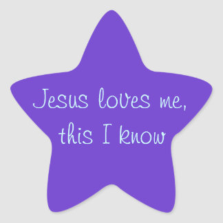Jesus Loves Me Star Sticker