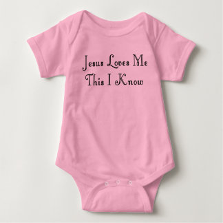 JESUS LOVES ME-T-SHIRT BABY BODYSUIT