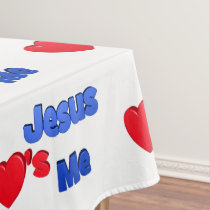 Jesus Loves Me Tablecloth