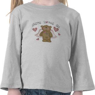 Jesus Loves Me Teddy Bear Angel Toddler T Shirts