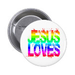 JESUS LOVES PINBACK BUTTONS