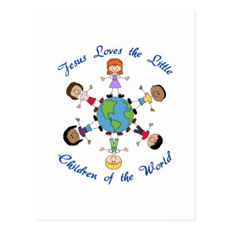 Jesus Loves The Children Postcard