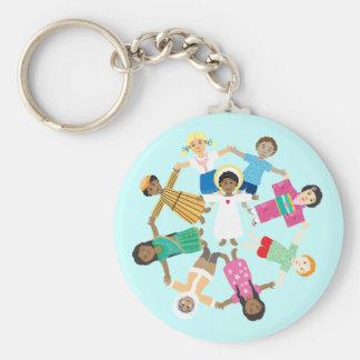 Jesus loves the little children basic round button keychain