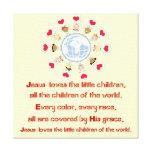 Jesus Loves the Little Children Canvas Print