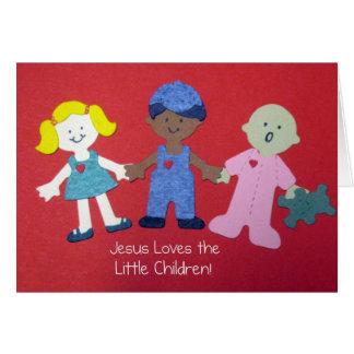 Jesus loves the Little Children! Greeting Card