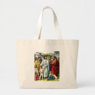 Jesus Loves The Little Children Large Tote Bag