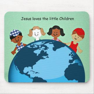Jesus loves the little children. mouse pad