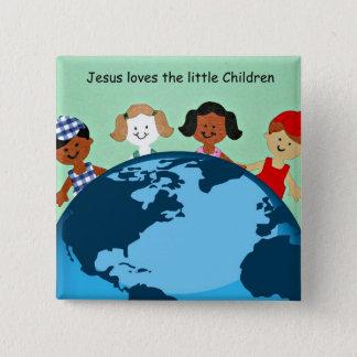 Jesus loves the little children. pinback button