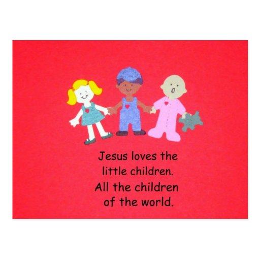 Jesus Loves The Little Children Postcard