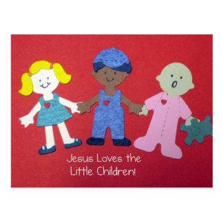 Jesus loves the Little Children! Postcard