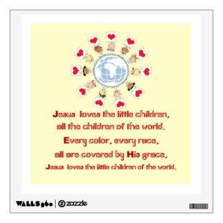 Jesus Loves the Little Children Wall Graphics