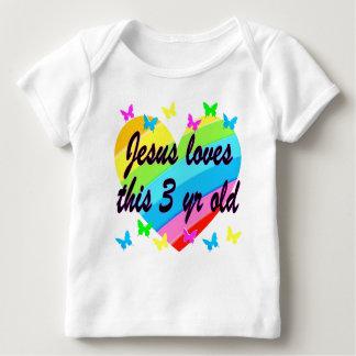 JESUS LOVES THIS 3 YR OLD BIRTHDAY DESIGN SHIRT