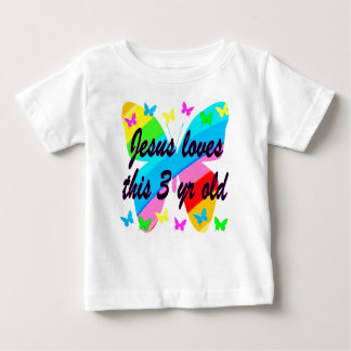 JESUS LOVES THIS 3 YR OLD BUTTERFLY DESIGN SHIRT