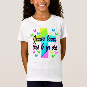JESUS LOVES THIS 6 YEAR OLD 6TH BIRTHDAY T Shirt