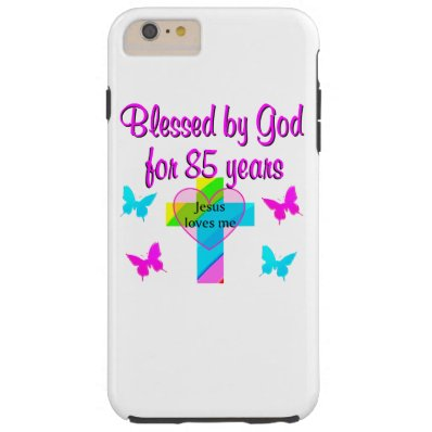 JESUS LOVES THIS 85 YEAR OLD CROSS DESIGN TOUGH iPhone 6 PLUS CASE