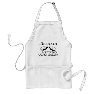 Jesus Loves this Baby Aprons