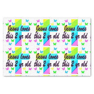 """JESUS LOVES THIS CHRISTIAN 2 YEAR OLD PRAYER 10"""" X 15"""" TISSUE PAPER"""
