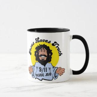 Jesus Loves Truth 9-11 Inside Job Funny Mug