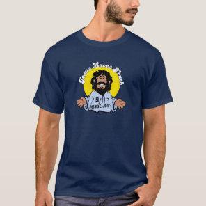 Jesus Loves Truth 9-11 Inside Job Funny T-Shirt