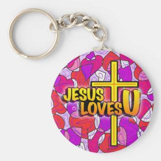 Jesus Loves U Keychains