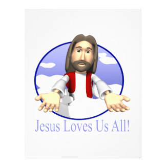 Jesus Loves Us All Full Color Flyer