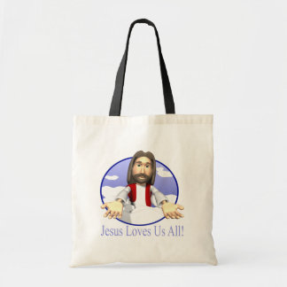 Jesus Loves Us All Tote Bag