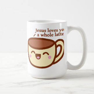 Jesus Loves you a whole Latte Mug