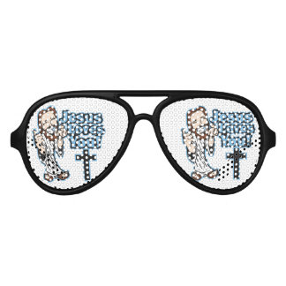 Jesus Loves You Aviator Sunglasses