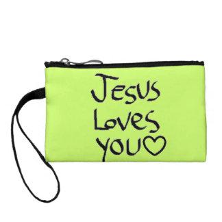 Jesus Loves You Change Purse