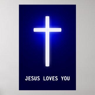 JESUS LOVES YOU - Christian Poster