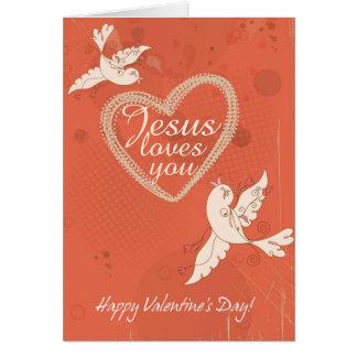 Jesus Loves You Custom Valentine's Day Card