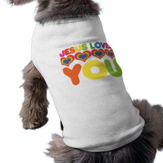 Jesus Loves you Pet Tshirt